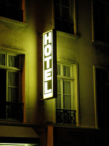 Hotel sign in Paris