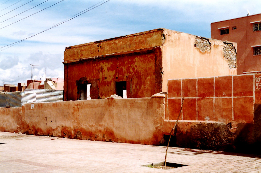 Dilapidated building in Marrakesh, Morocco