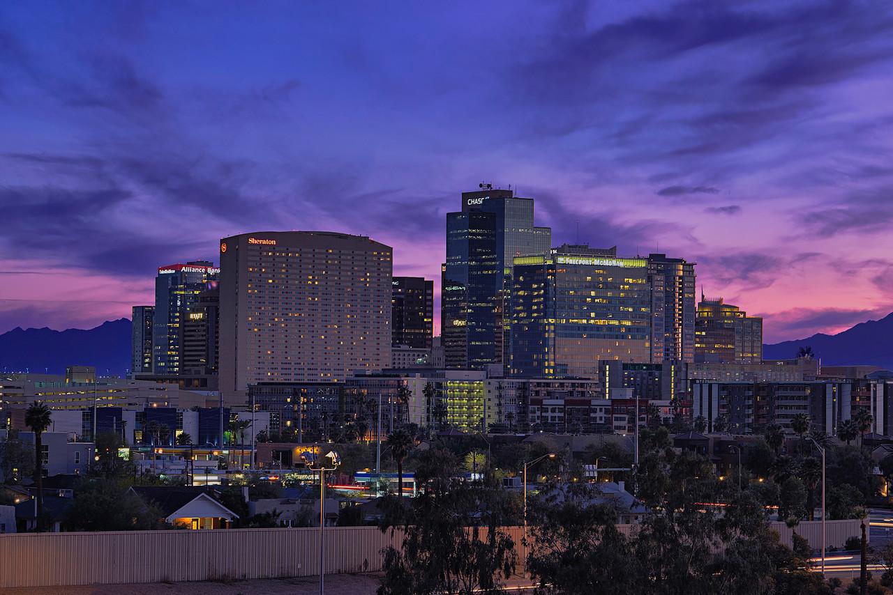 Phoenix Skyline Blue Hour