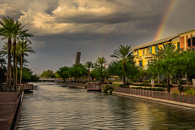 Scottsdale Waterfront Monsoon Rainbow