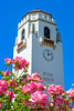 Boise Idaho Train Depot with Blooming Roses