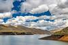 Desert Reservoir and Clouds