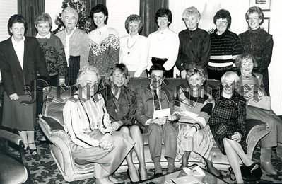 Mr Colin Ferguson from Barnardo visited the monthly meeting of the Newry Barnardo Group in the home of Mrs Velma Lyons recently. Mrs Lyons who is secretary / Treasurr of the group handed over a cheque for £1,000 to Mr Ferguson the proceeds of various functions held during last year. R8902106