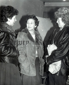 "January 1989 - Maura Cole, Eileen Duffy and Maureen McParland three of the ladies who have the responsibility of attending to the many costume requirements for the forthcoming ""Aladdin"" pantomime. R8905125"