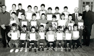 St Colmans Abbey Primary Newry with Brother McAdam and Brother Dunleavey newry Lions