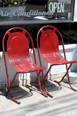 fun red chairs