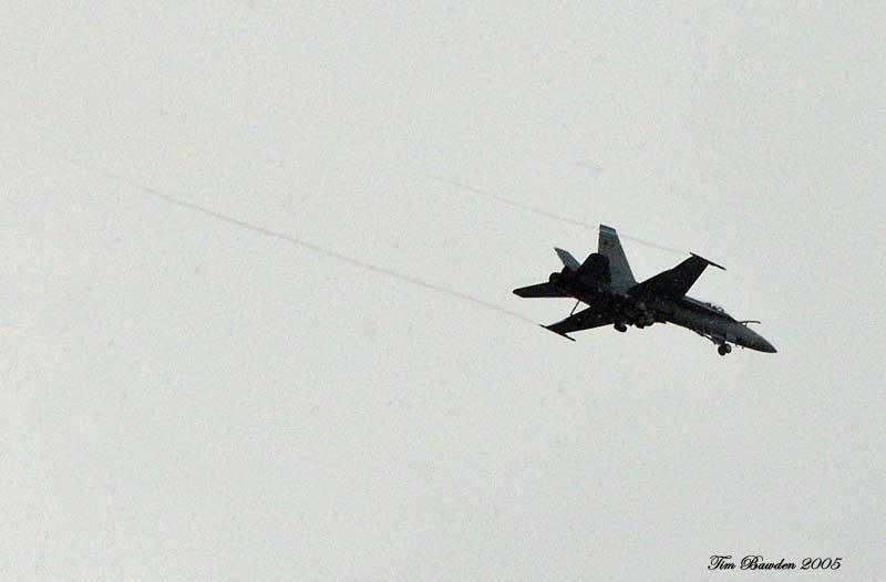 F/A-18 Hornet low pass