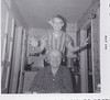 1960 - Dad and me hamming it up in Minot house kitchen