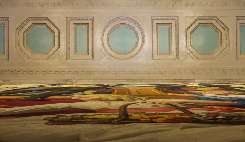 painting as carpet