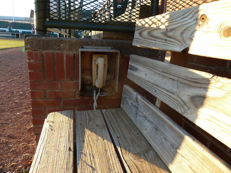 Auburn University, bullpen phone at Hitchcock Field at Plainsman Park