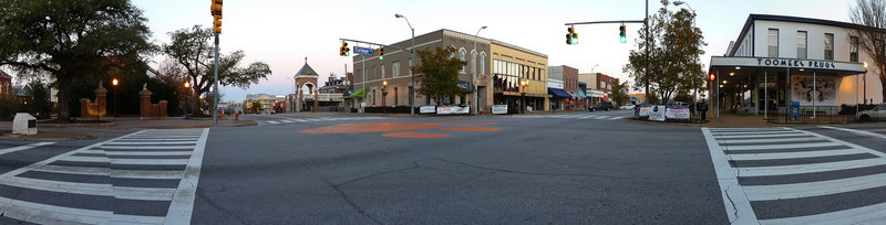 Auburn University, panorama of Toomer's Corner