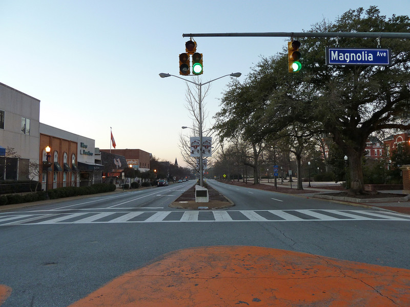 Auburn University, view south down College Street from Toomer's Corner
