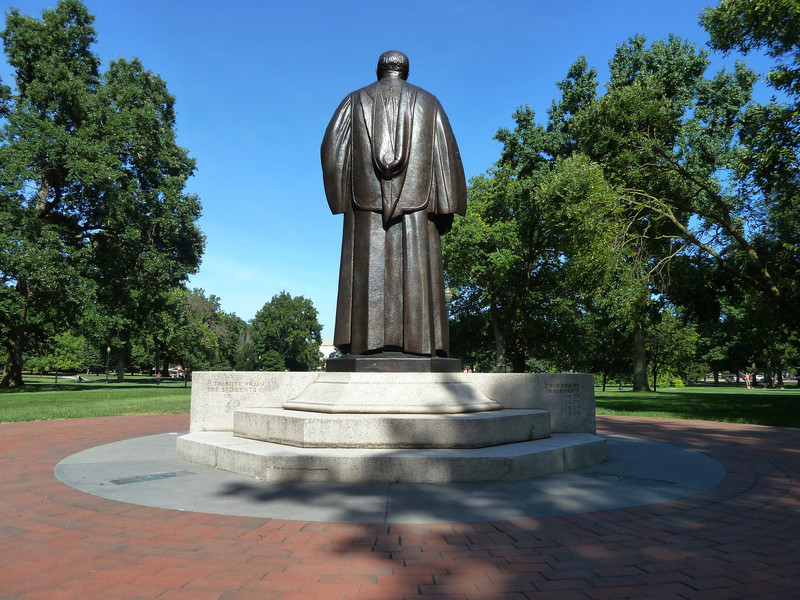 The Ohio State University, President Thompson statue