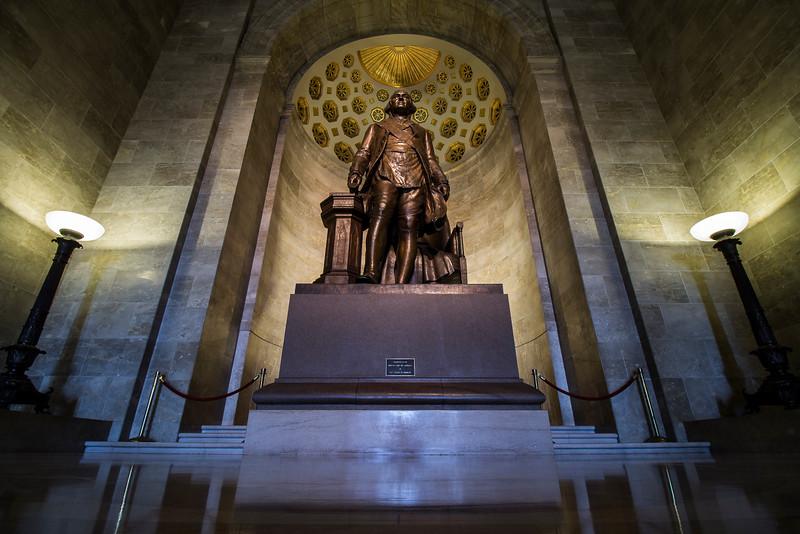 statue of George Washington in main hall