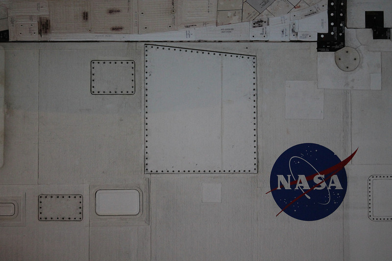 panelling on side of Space Shuttle Discovery