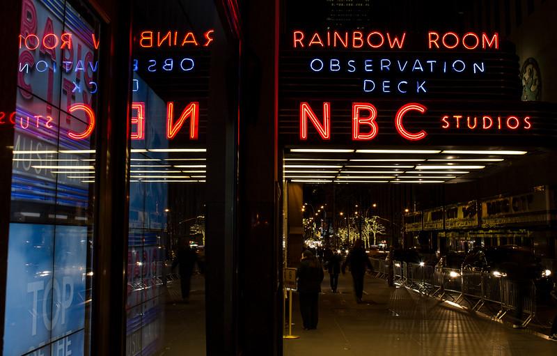 sign outside Rockefeller Center
