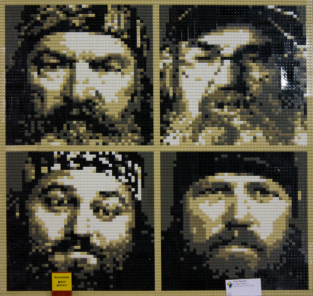 BrickFair VA 2014, mosaic of Duck Dynasty cast