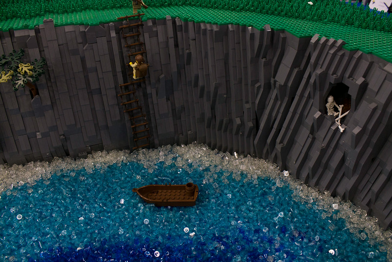 BrickFair VA 2014, minifigure climing steep cliff
