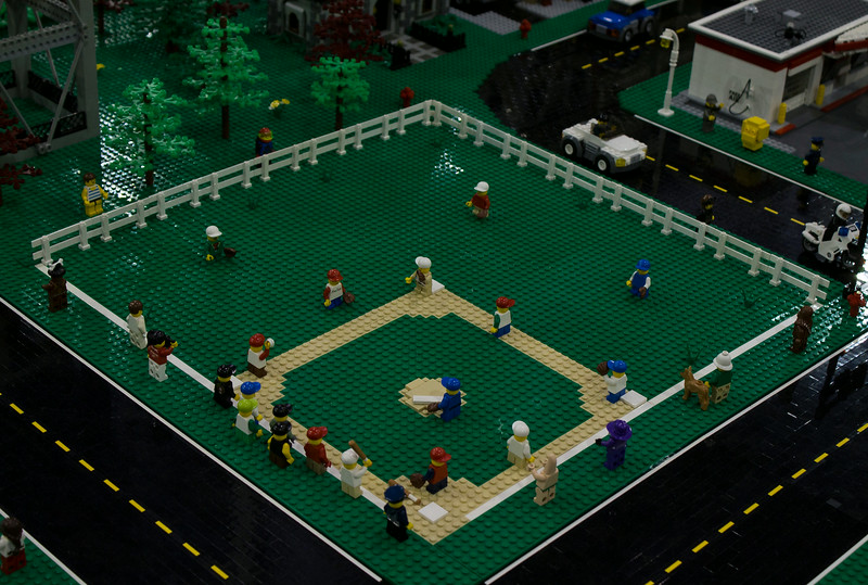 BrickFair VA 2014, neighborhood baseball game