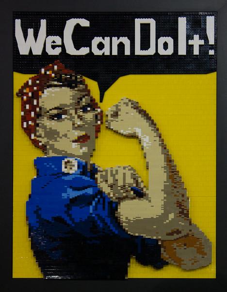 BrickFair VA 2014, mosaic of Rosie the Riveter