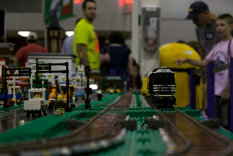 BrickFair VA 2014, display with visitors in background