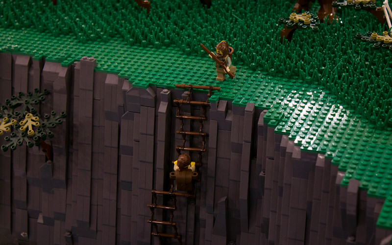 BrickFair VA 2014, minifigure climbing steep cliff