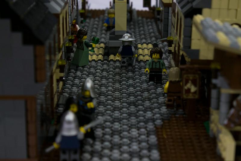BrickFair VA 2014, medieval town