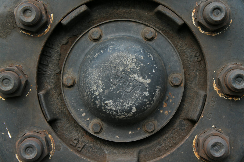 detail of wheel on school bus
