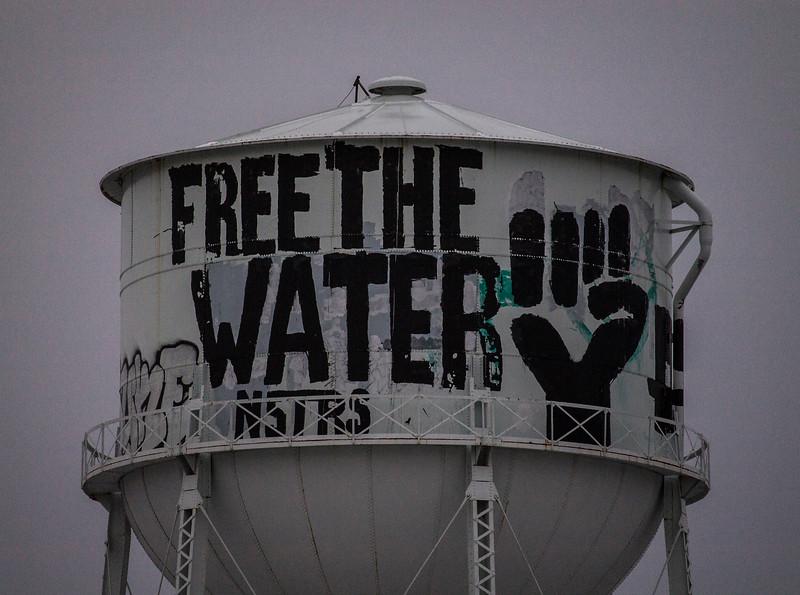 water tower near Detroit, MI