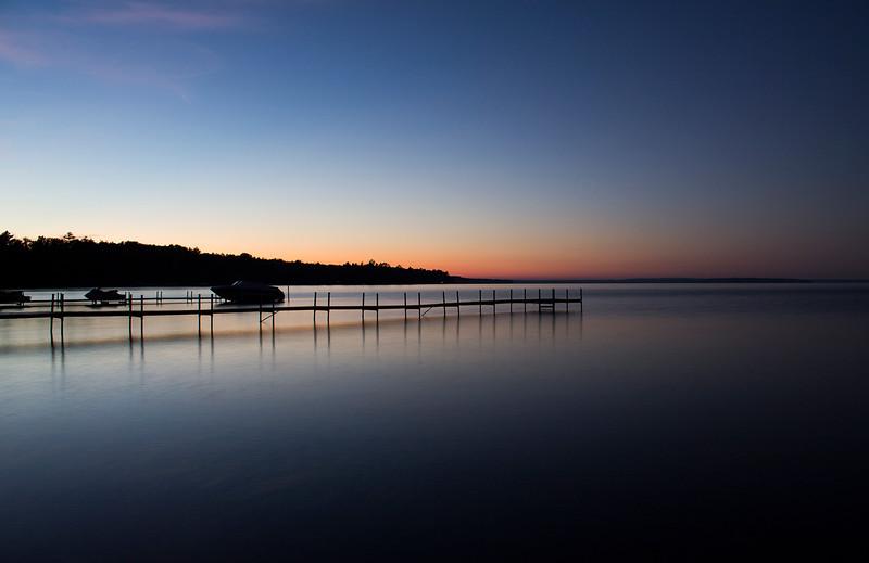 Burt Lake, MI at sunset