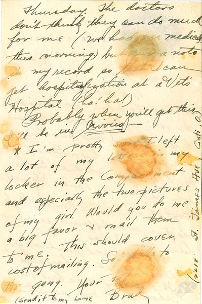 4/23/46 letter from a friend - page 2