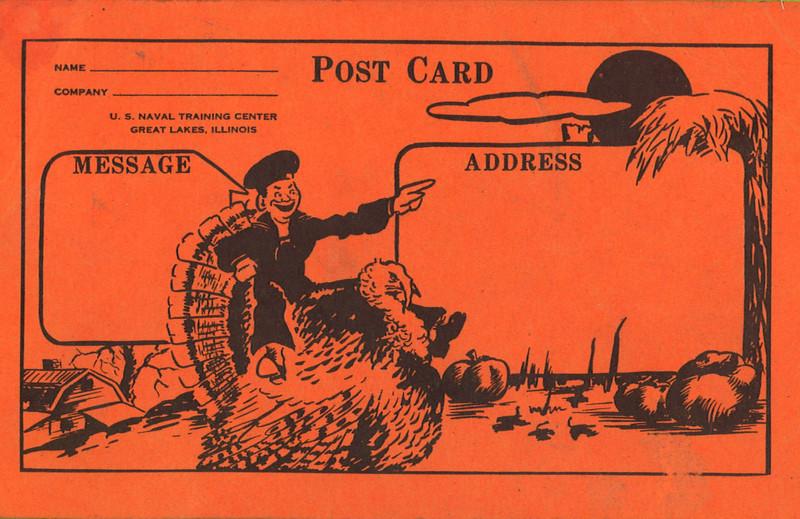 Thanksgiving postcard 11/23/44