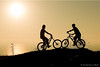 Two bikers  in  Eling Park