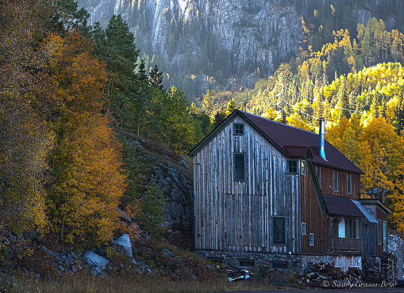 HDR Fall Cabin outside Telluride, CO