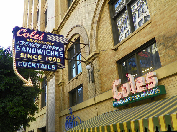 Cole's claims to be the Originator of the French Dipped Sandwiches (see Philippe's)