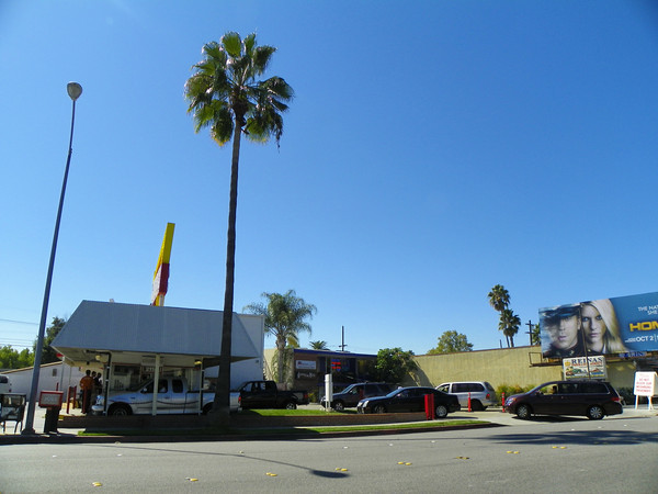 Located on E. Foothill in east Pasadena, this, as of April, 2011, is the oldest surviving IN-N-OUT. It has no in-door seating and a line of more than 4 cars blocks driveways and/or the street.