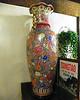 Huge vases dot the building