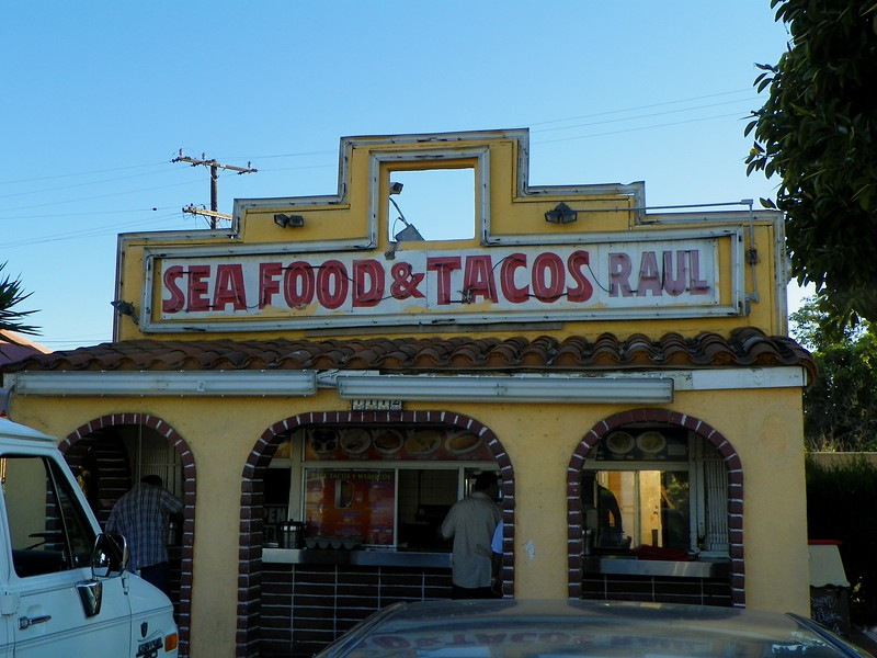 This was the first Taco Bell building, 7112 Firestone Blvd. in Downey, CA, just east of the 710. There is a modern Taco Bell across the street.