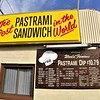 Pastrami came from Romania and the first U.S. sandwich was made in N.Y. in 1887.  It is usually - but not always - beef.