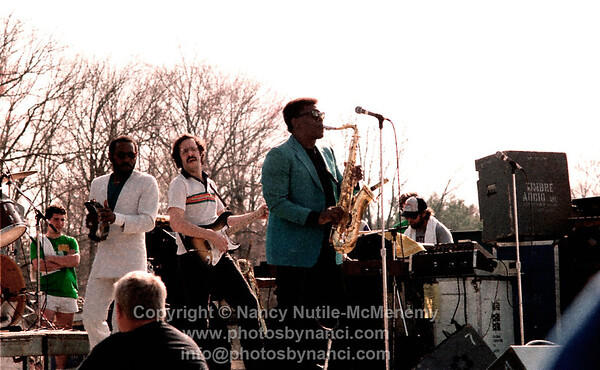 Clarence Clemons opened for Cheap Trick Southwest Spring Concert, UMASS-Amherst MA Copyright ©1983 or 1984 Nancy Nutile-McMenemy www.photosbynanci.com