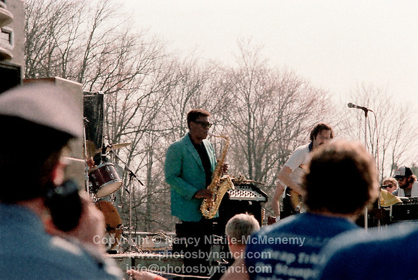 Clarence Clemon opened for Cheap Trick Southwest Spring Concert, UMASS-Amherst MA Copyright ©1983 or 1984 Nancy Nutile-McMenemy www.photosbynanci.com