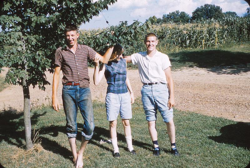From Left:  George Mueller, Mattie Grimm, Jimmy Grimm