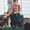 George Mueller and friends.  Dad has always had kids and animals somewhere around him.