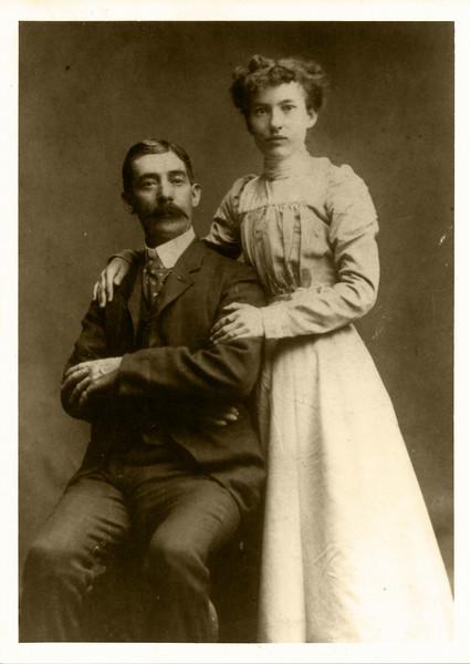 "James Alexander Peyton and Emma Caroline Lobmaster Wedding April 1901.  Parents of Eugene Onselum ""Gene"" Peyton"