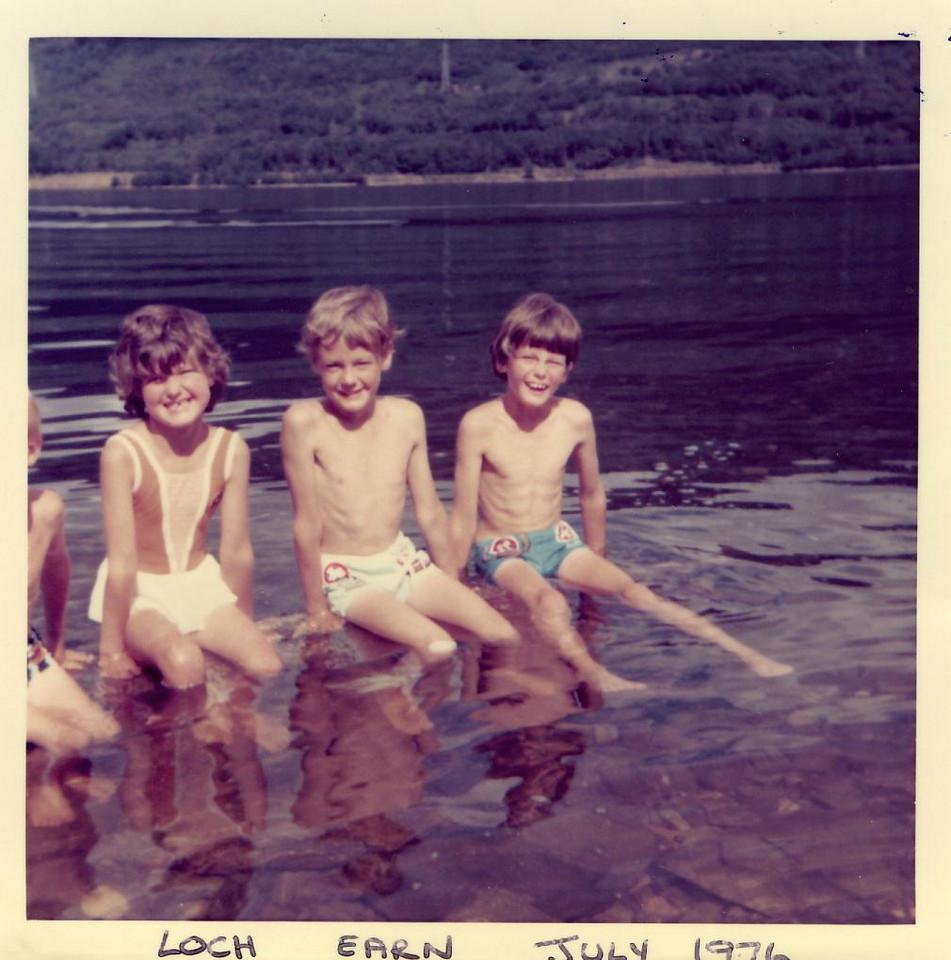 1976 07  Alan Ann Kenny Brian Loch Earn, July 1976