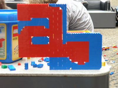The finished ab lego logo that hprice and I made
