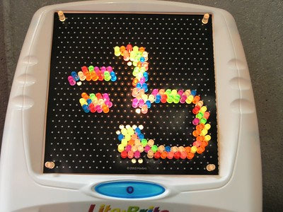 The ab logo I made of lite brite