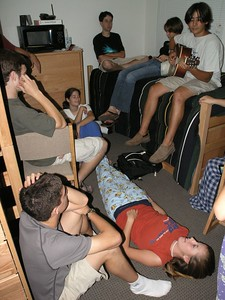 People used to hang out in our room all the time.