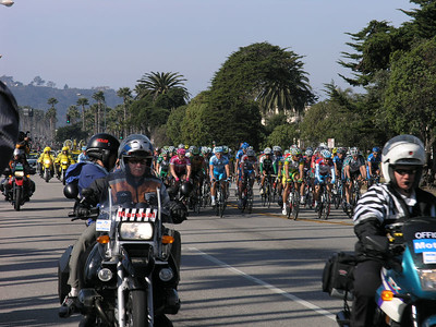 The bikers approach