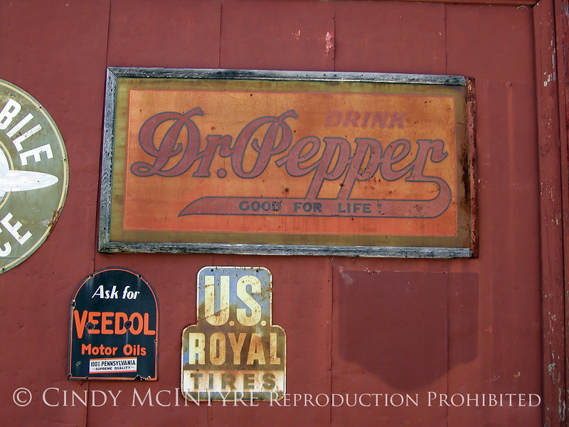 Dr Pepper signs, Chappell Hill TX (1)